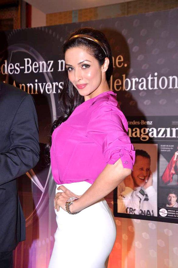 Malaika Arora Sexy Pose During Mercedes Benz Magazine Launch Event