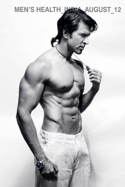 Hrithik Six Pack Photo Shoot For India's Magazine Men's Health August 2012 Issue