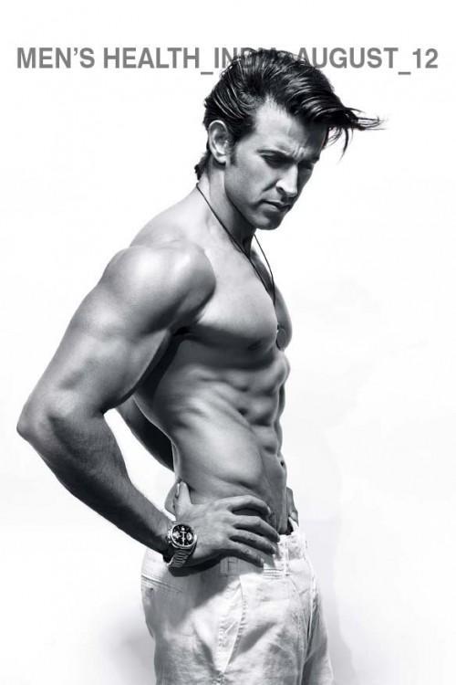 Hrithik Six Pack Photo Shoot For India's Magazine Men's Health August 2012