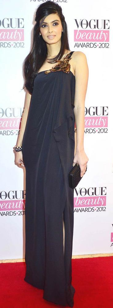 Diana Penty in Gucci at Vogue Beauty Awards 2012