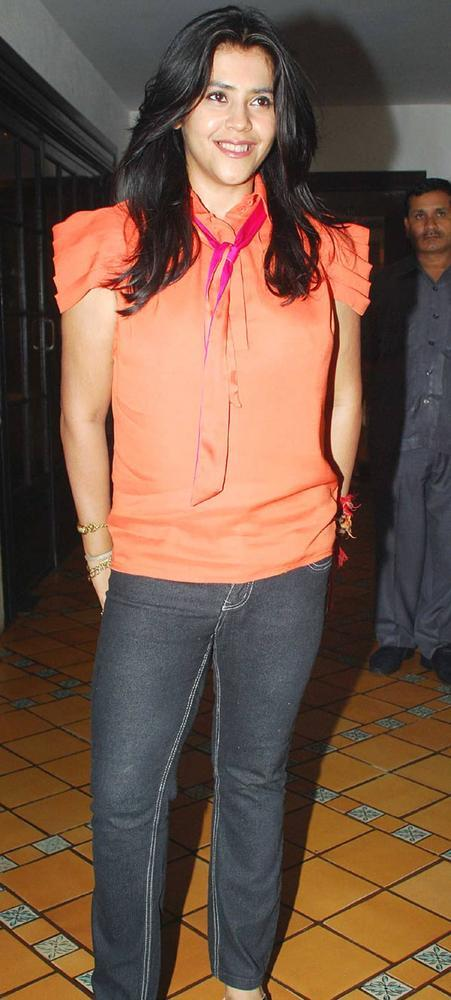 Ekta Kapoor Nice Pic at KSKHH Movie Success Bash