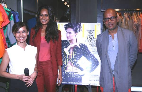 Nonita Kalra,Lisa Haydon and Narendra at Elle August Magazine Launch Event
