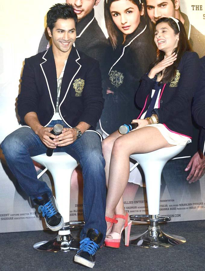 Varun Dhawan and Alia Bhatt Share a Laugh At Student Of The Year Movie Trailer Launch