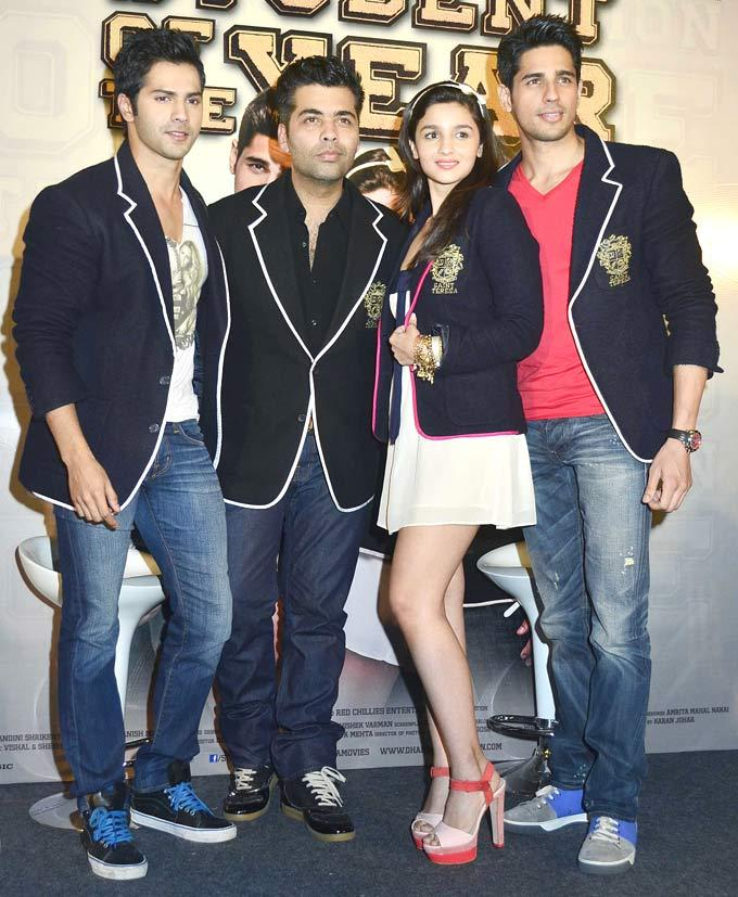 Varun.Karan,Alia and Siddharth at Trailer Launch Of Student Of The Year