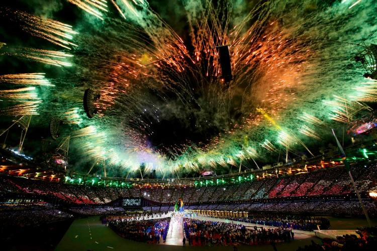 Fireworks During The Closing Ceremony of the London Olympic Games at the Olympic Stadium Reuters