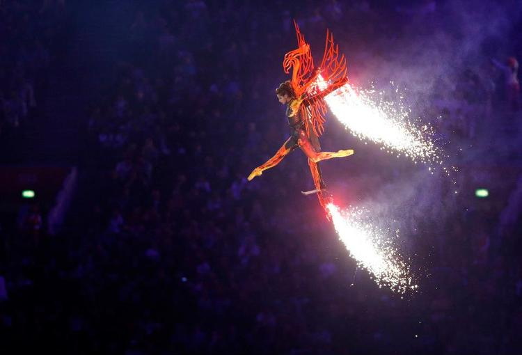 A Performer Takes Part in The Closing Ceremony of the London Olympic Games in the Olympic Stadium Reuters