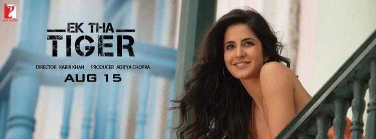 Katrina Kaif Ek Tha Tiger Smiling Look Poster