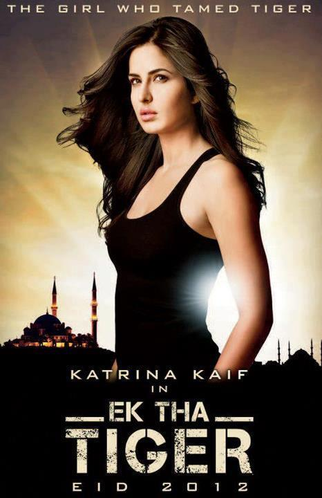 Rocks as Action Girl Katrina Kaif In Ek Tha Tiger Poster