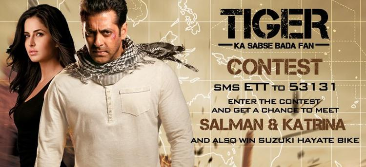 Salman and Katrina Hot Look For Ek Tha Tiger Poster