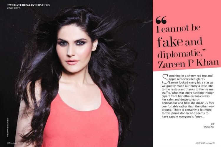 Zareen Khan on The Cover Page Of Perfect Woman Magazine August 2012