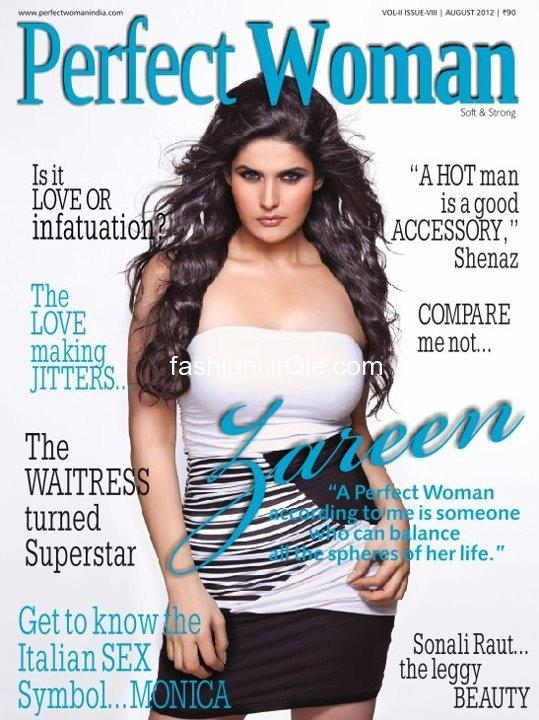 Zareen Khan on The Cover Page Of Perfect Woman Magazine