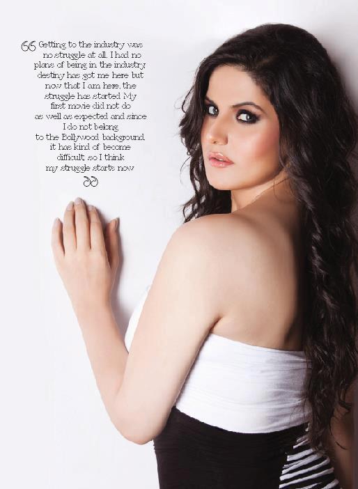 Zareen Khan on Perfect Woman Magazine August 2012