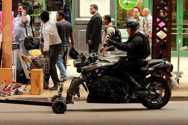 Aamir Khan Riding a Sexy BMW On The Set of Dhoom 3
