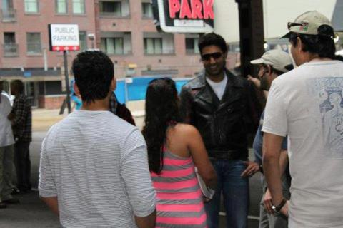 Abhishek Bachchan With Fans On The Sets of Dhoom 3