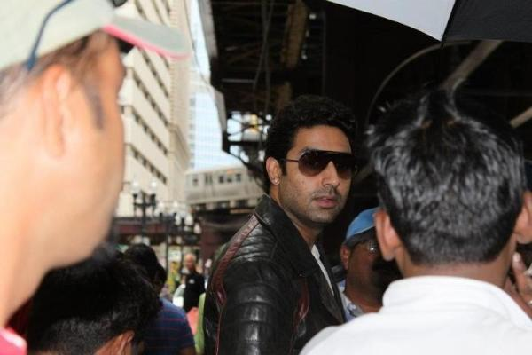 Abhishek Bachchan On The Sets of Dhoom 3
