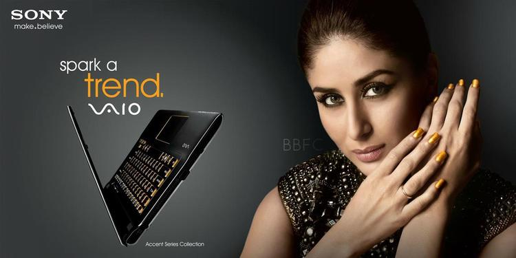 Kareena Kapoor Hot Look For Sony VAIO Laptop