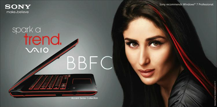 Kareena Kapoor For Sony VAIO Laptop