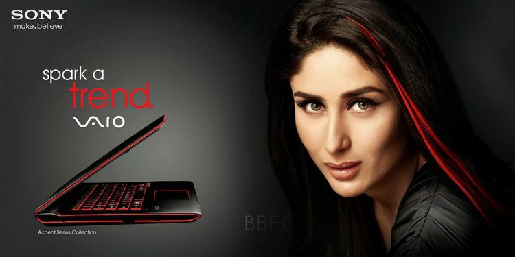 Sexy Kareena Kapoor Look For Sony VAIO Laptop