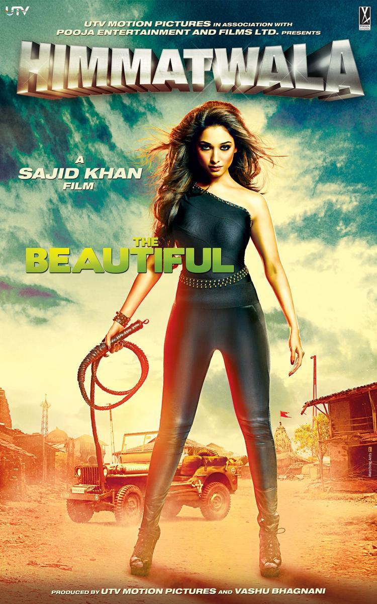 Hot Tamanna in Himmatwala Movie First Look Poster