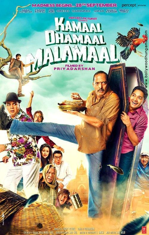 Cast In Most Comedy Hindi Movie Kamaal Dhamaal Malamaal Poster