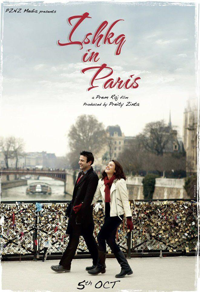 Preity Zinta and Rhehan Malliek In Ishkq In Paris Poster