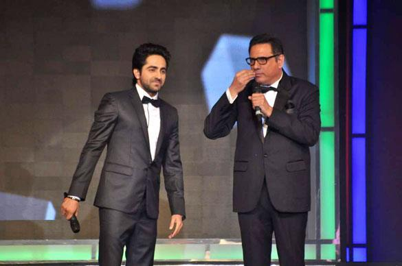 Ayushman and Boman On Stage at Credai's Real Estate Awards