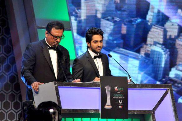Boman and Ayushman at Credai's Real Estate Awards