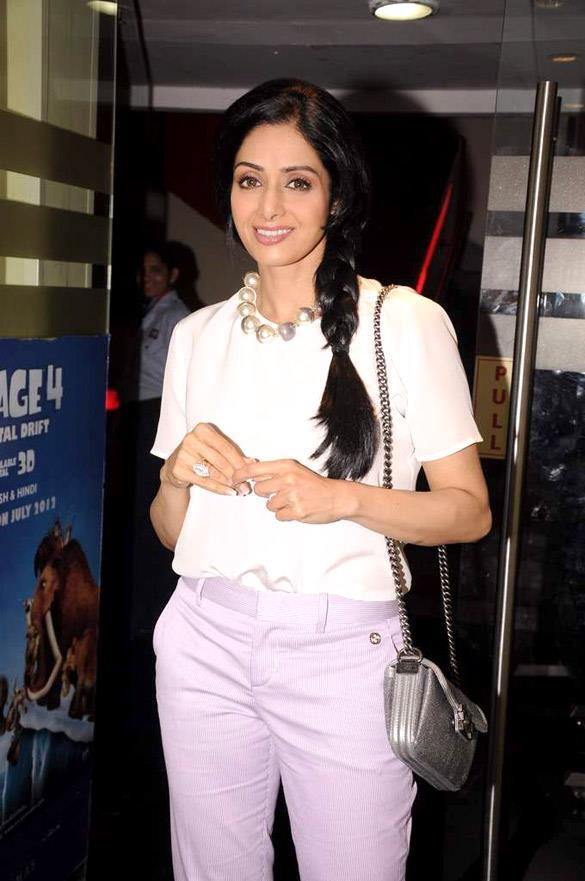 Sridevi Cute Smile Pic at The First Look Launch of English Vinglish