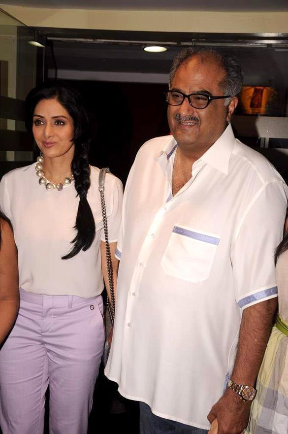 Sridevi Spotted With Boney at English Vinglish First Look Launch