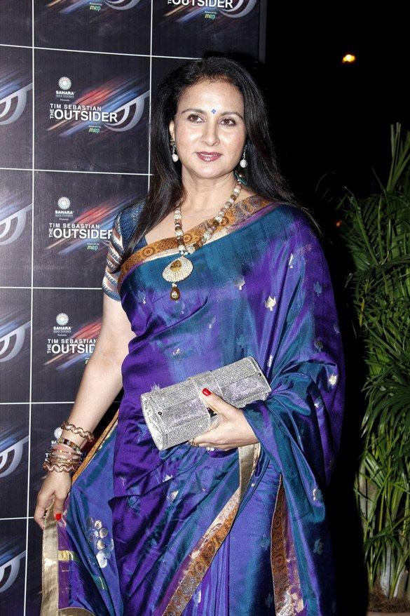 Poonam Dhillon In Gorgeous Saree at The Outsider Party Launch