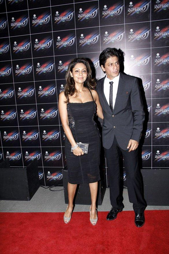 Shahrukh With Wife Gauri at The Outsider Party Launch