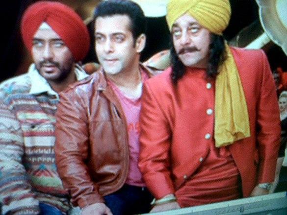 Sanjay,Salman and Ajay a Cute Still From Son Of Sardar Movie