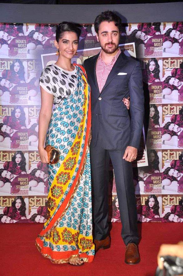 Sonam and Imran Pose During The Launch Of Star Week Magazine