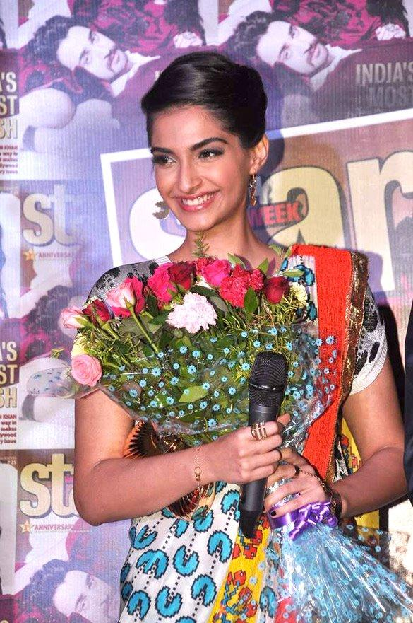 Sonam Kapoor Smiling Pic During Star Week Magazine Launch