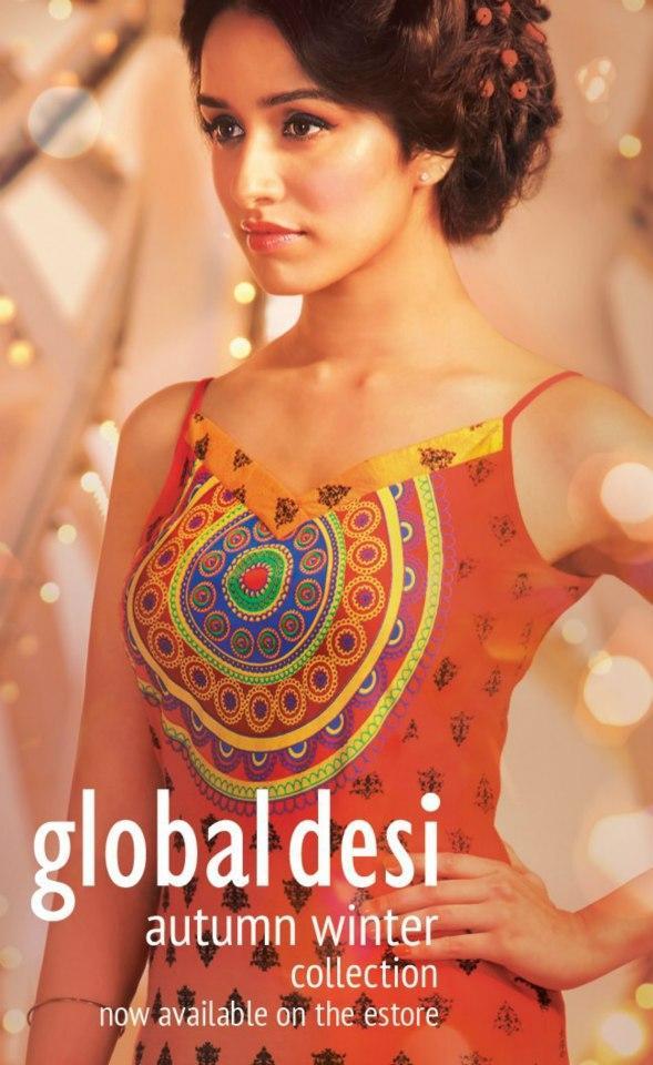Shraddha Kapoor Hot Pose For Global Desi