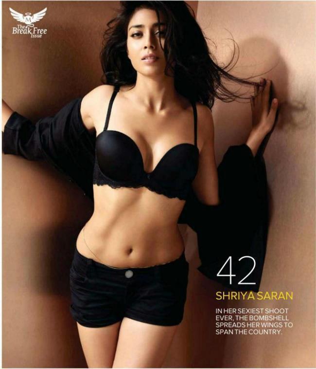 Shriya Saran Spicy Hot Pose For Maxim India August 2012.