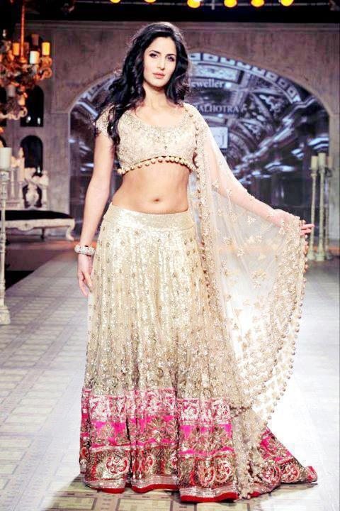 Katrina Kaif in a Manish Malhotra Bridal Wear at Lakme Fashion Week