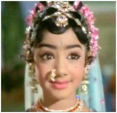 Sridevi Childhood Cute Beauty Still