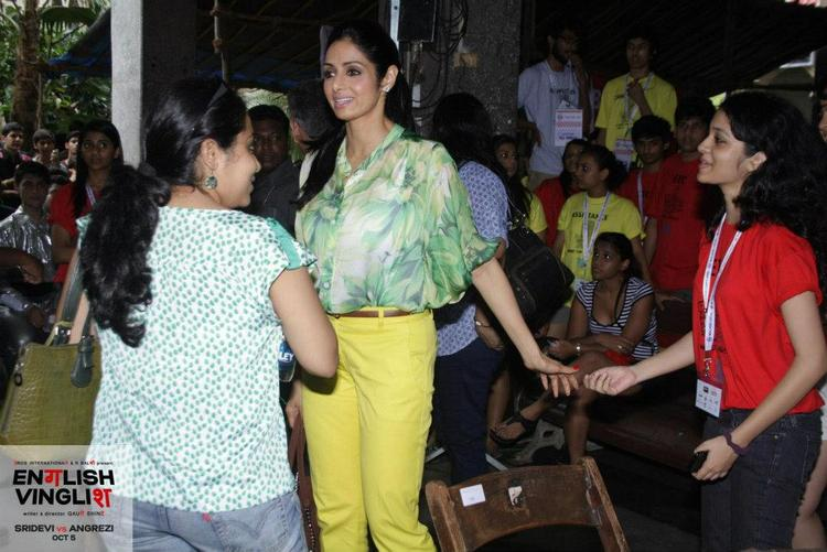 Sridevi Spotted at Malhar College Festival