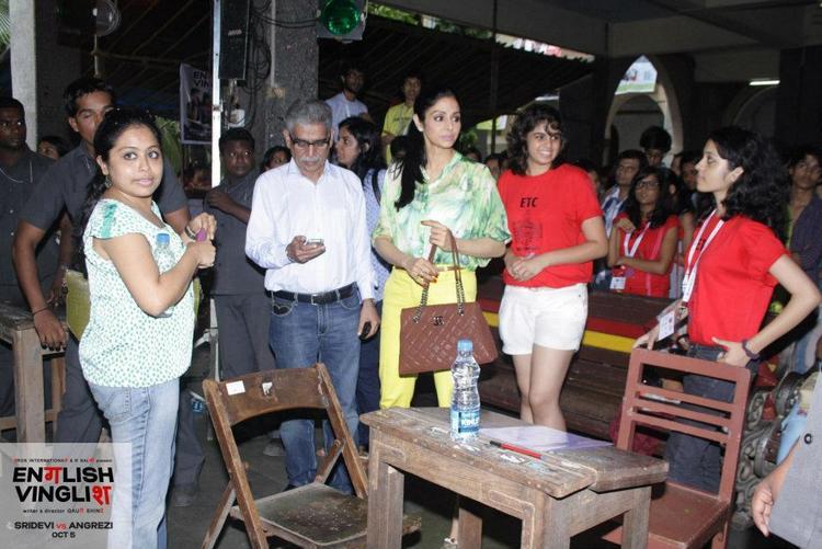 Sridevi at St Xavier's College Fest in Mumbai