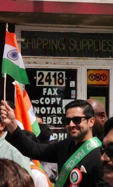 Aftab Shivdasani Celebrated Indian Independence Day in Chicago
