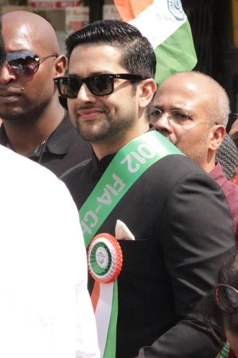 Aftab Shivdasani Grand Marshall At The Independence Day Parade in Chicago