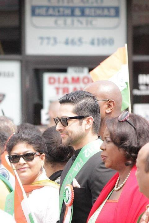 Aftab Shivdasani at Indian Parade Chicago 2012