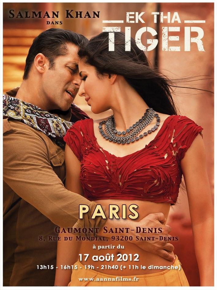 Action Romantic Movie Ek Tha Tiger French Poster