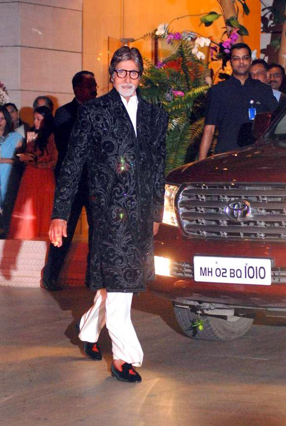 Amitabh Bachchan Spotted at Nita and Mukesh Ambani Party