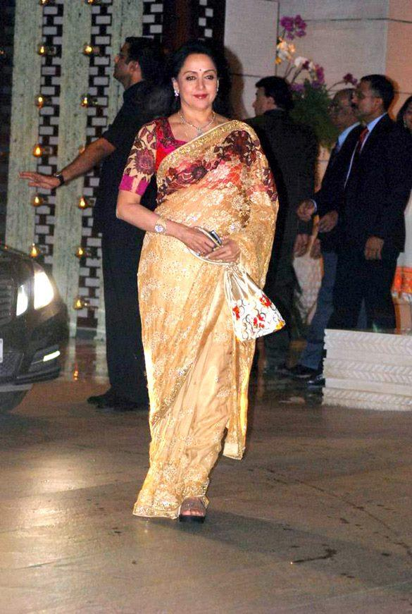 Hema Malini at Nita and Mukesh Ambani Party