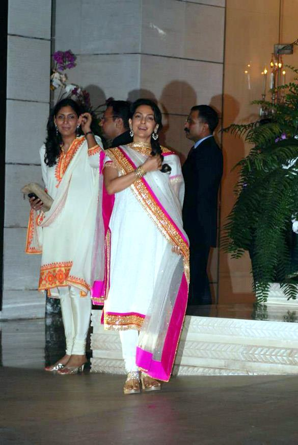 Juhi Chawla Snapped at Nita and Mukesh Ambani Party Hosted For Abu and Sandeep