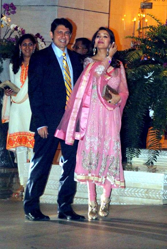 Madhuri With Hubby at Nita and Mukesh Ambani Party Hosted For Abu and Sandeep