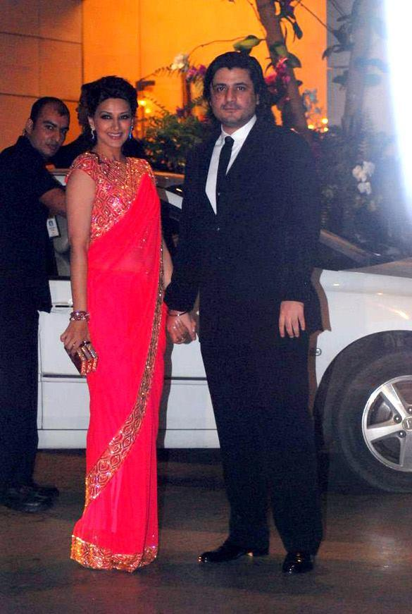 Sonali Bendre With Hubby During Nita and Mukesh Ambani Party