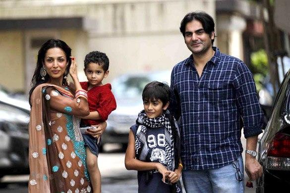 Arbaaz Khan With Family at Salman Khan's Eid Party